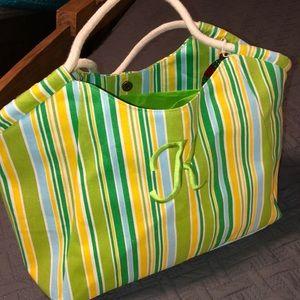 "Handbags - 2 Beach Totes Monogram with ""K"""